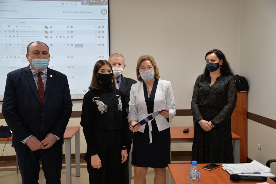 Wręczenie stypendium burmistrza miasta Dęblin za szczególne osiągnięcie sportowe w roku 2020