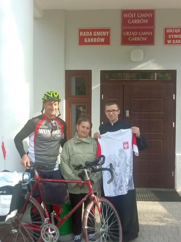 Rowerem do Rzymu - wyjazd z Garbowa