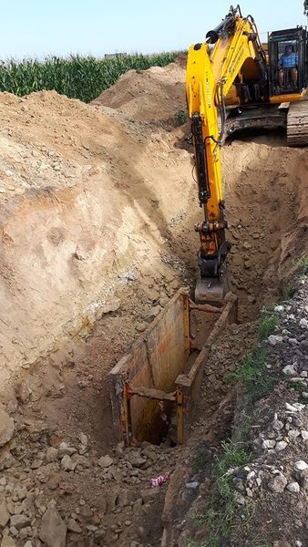 Budowa kanalizacji (lipiec 2018)