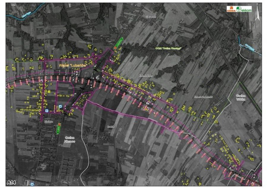 Plan obwodnicy Lublina