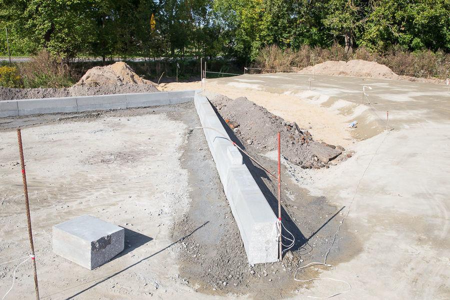 Na zdjęciu plac budowy Park & Ride w Nasutowie