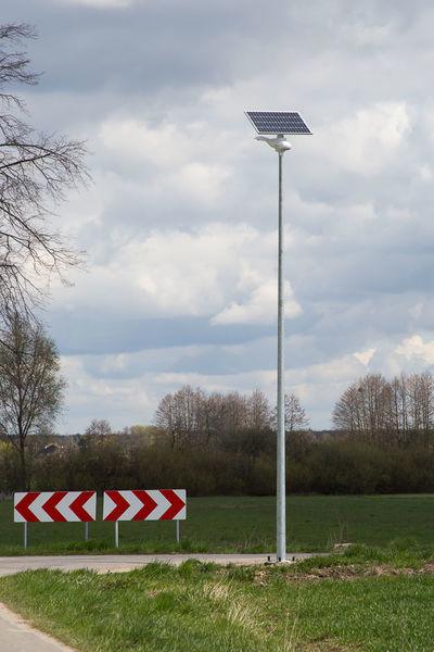 Na zdjęciu lampa solarna