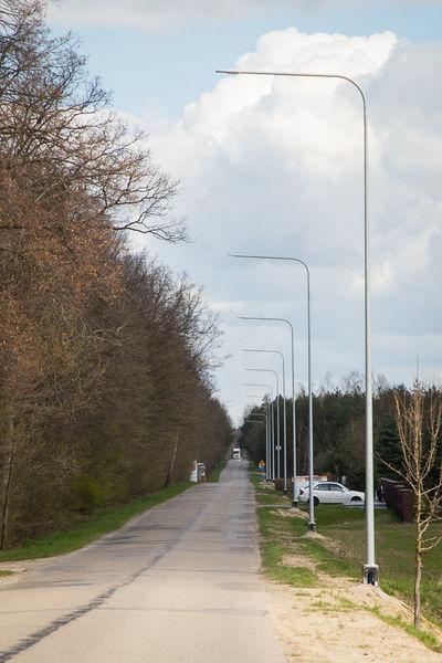 Na zdjęciu oświetlenie uliczne w Kawce