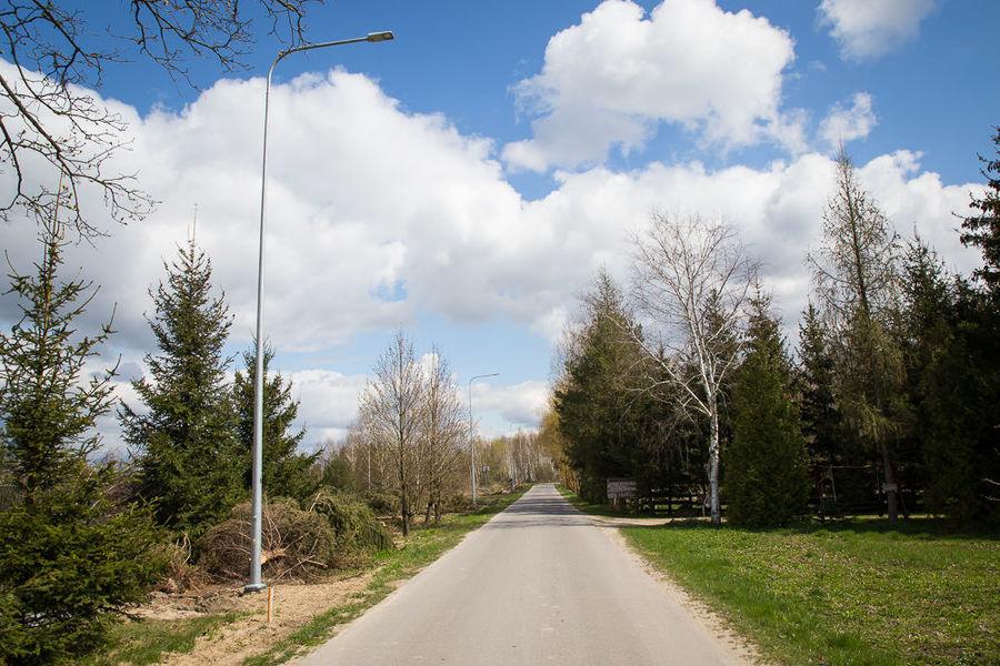 Na zdjęciu oświetlenie uliczne w Pryszczowej Górze
