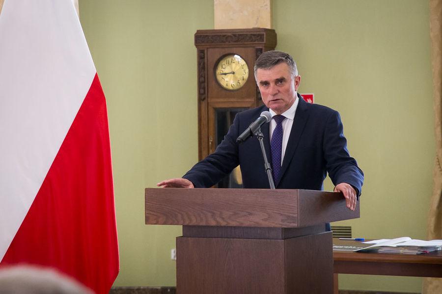 Na zdjęciu Wojewoda Lubelski podczas przemowy