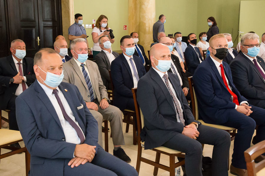Na zdjęciu przedstawiciele samorządów z województwa lubelskiego