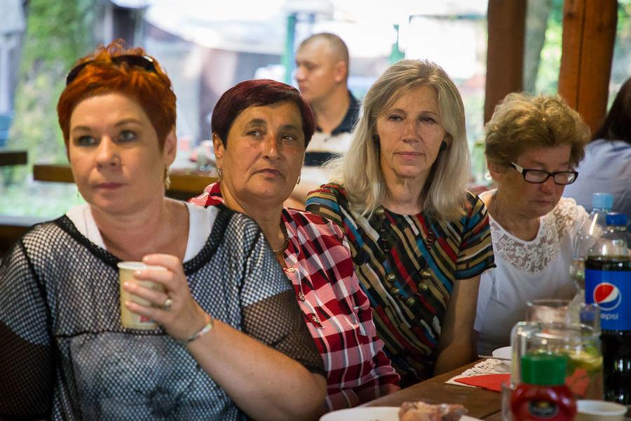 Na zdjęciu Sołtysi słuchający prelekcji