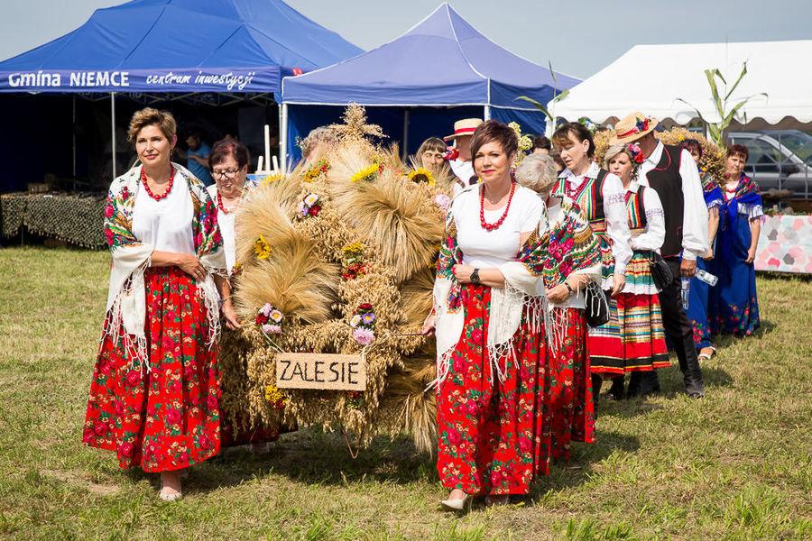 Na zdjęciu delegacja wieńcowa z miejscowości Zalesie