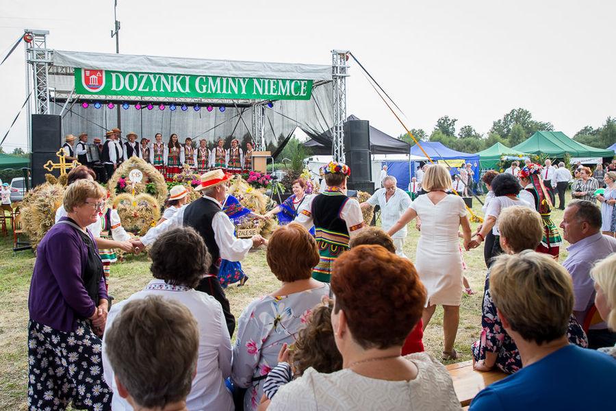Na zdjęciu ludzie tańczący przed sceną
