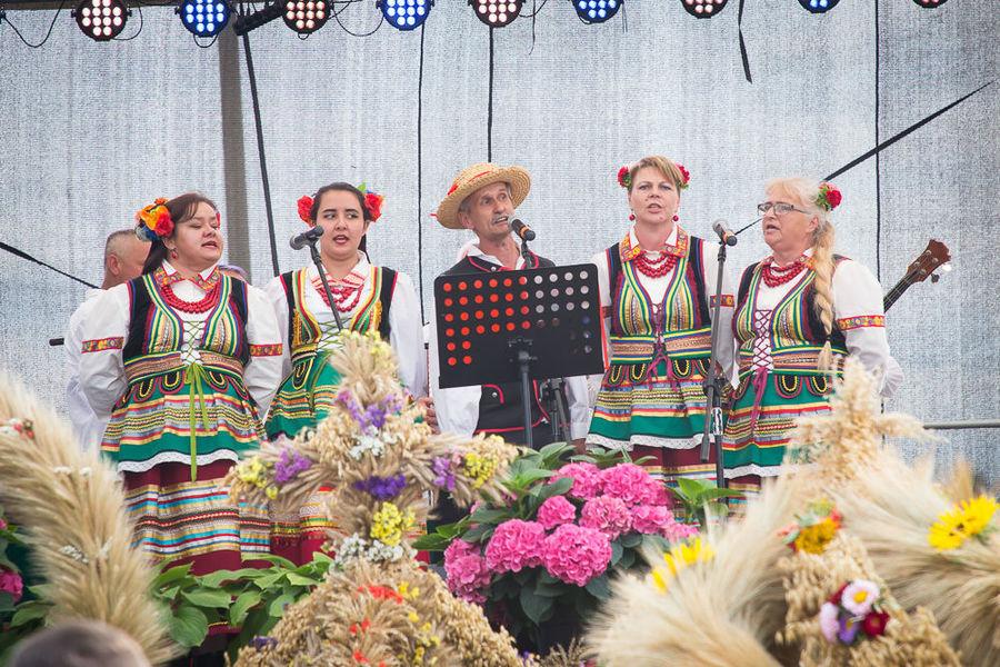 Na zdjęciu Zespół Ludowy Ciecierzyn na scenie