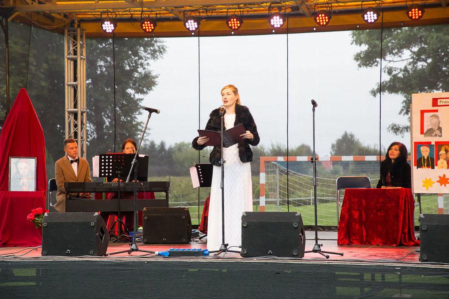 Na zdjęciu artysta podczas występu.