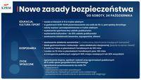 I Nowe zasady bezpieczeństwa  OD SOBOTY, 24 PAŹDZIERNIKA