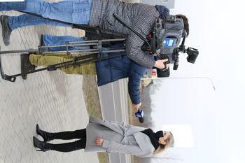 Pani Edyty Dobek - Przewodniczącej Rady Gminy Wólka udzielający wywiadu