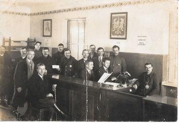 Urzędnicy UG w Wólce z 1929 roku