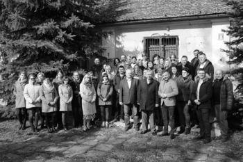 Wójtowie Tadeusz Małaj Włodzimierz Hofa Edwin Gortat wraz z pracownikami UG, OPS, Biblioteki i PGK Wólka