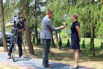Udzielenie wywiadu przez Annę Adamiak