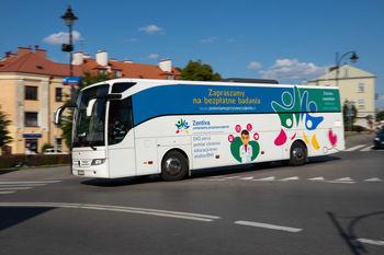 Autobus gdzie można odbyć badania