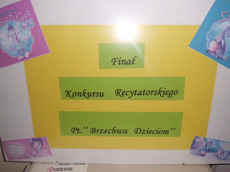 Konkurs recytatorski Brzechwy