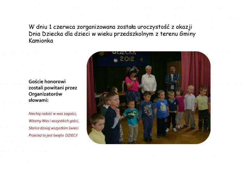 Gminny Dzień Dziecka 2012