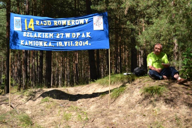 Rajd Rowerowy Szlakiem 27 W.D.P AK 2014