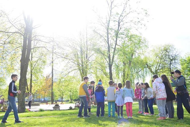 Spotkanie dzieci z harcerzami z ZHP