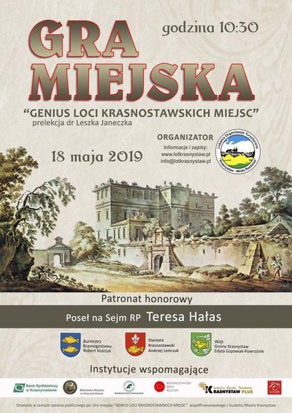 "Gra miejska ""Genius loci krasnostawskich miejsc"" – 18 maja 2019 r."