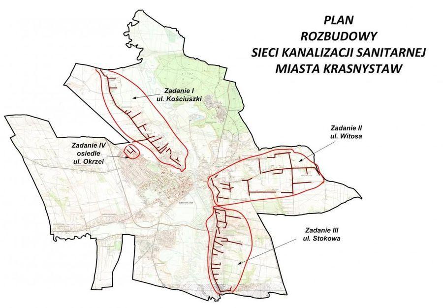 """Zakończenie zadania pn.: """"Rozbudowa systemu sieci kanalizacji sanitarnej w Krasnymstawie: Zadanie II: ul. Witosa"""""""
