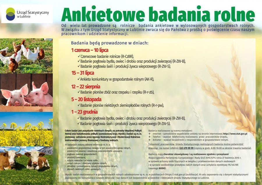 Ankietowe badania rolne 2019 - Urząd Statystyczny w Lublinie