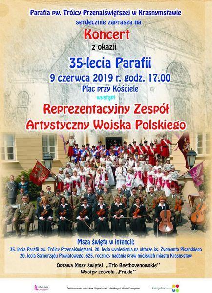 Koncert z okazji 35 - lecia Parafii pw. Trójcy Przenajświętszej w Krasnymstawie