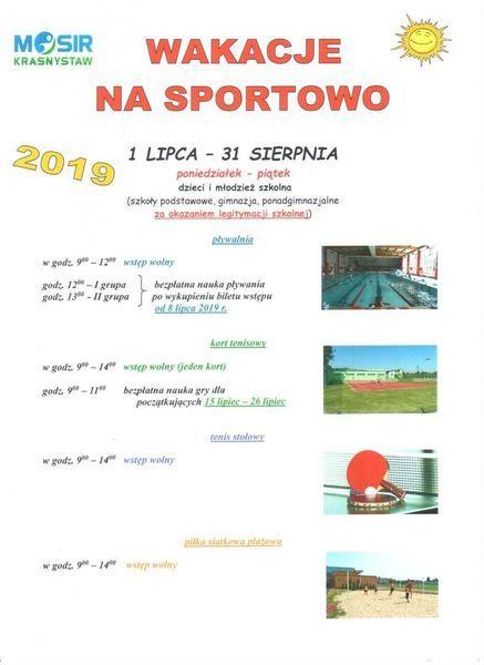 Wakacje na sportowo w MOSiR Krasnystaw