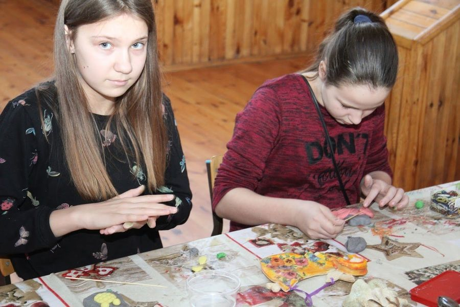 Walentynkowe warsztaty z masą solną w Domu Kultury w Markuszowie