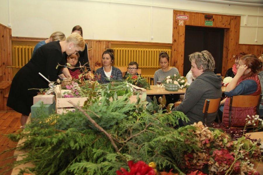 Warsztaty florystyczne w Domu Kultury