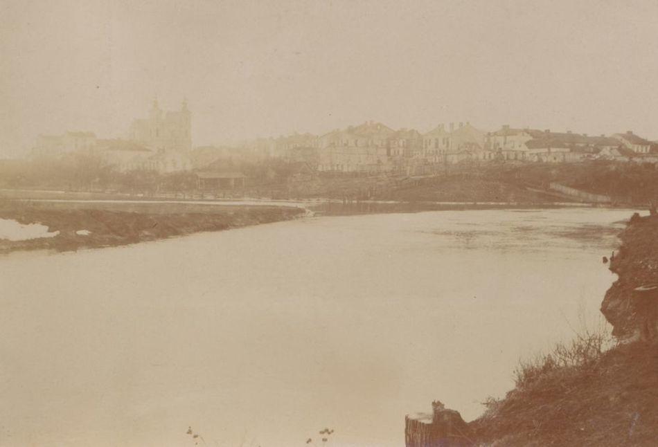 [MK/H/657/030] Krasnystaw od strony płd.- wsch., rzeka Wieprz. Krasnystaw, 1916 r.