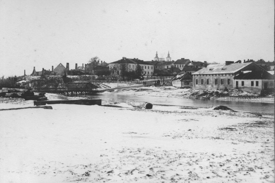 [MK/H/1695/025] Rzeka Wieprz w Krasnymstawie od strony płd.- wsch. lata 1914-1915.