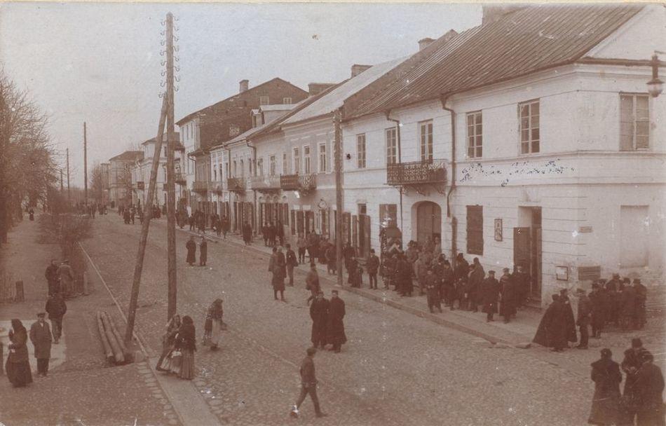 [MK/H/657/029] Pierzeja północna Placu 3 Maja, Krasnystaw,1916 r.