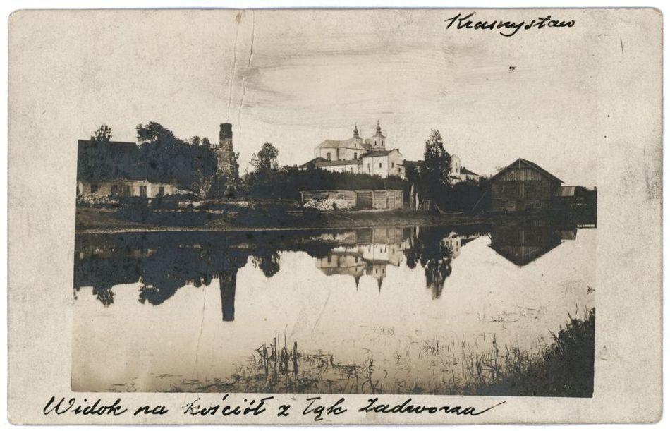 [MK/H/799] Krasnystaw. Widok na kościół z łąk
