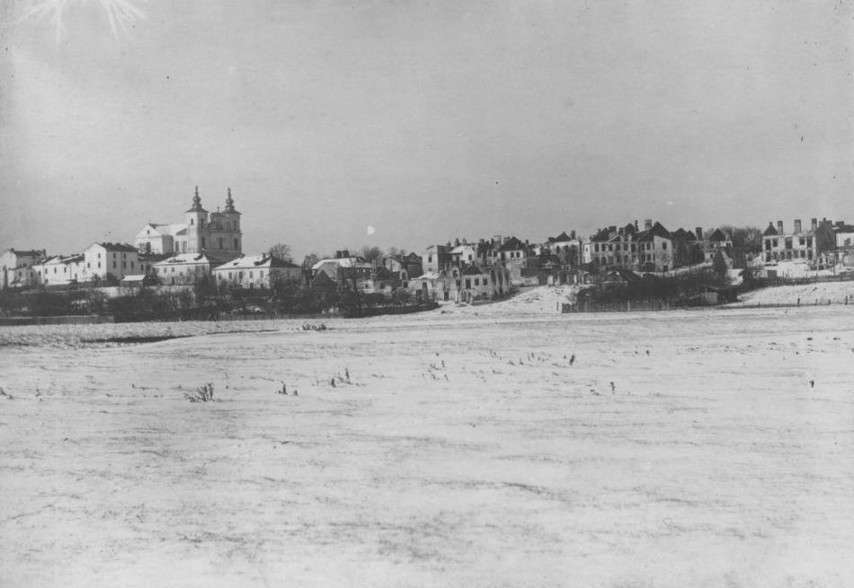 [MK/H/1695/028] Krasnystaw zimą - widok ogólny od strony płd.- wsch., lata 1914-1915.