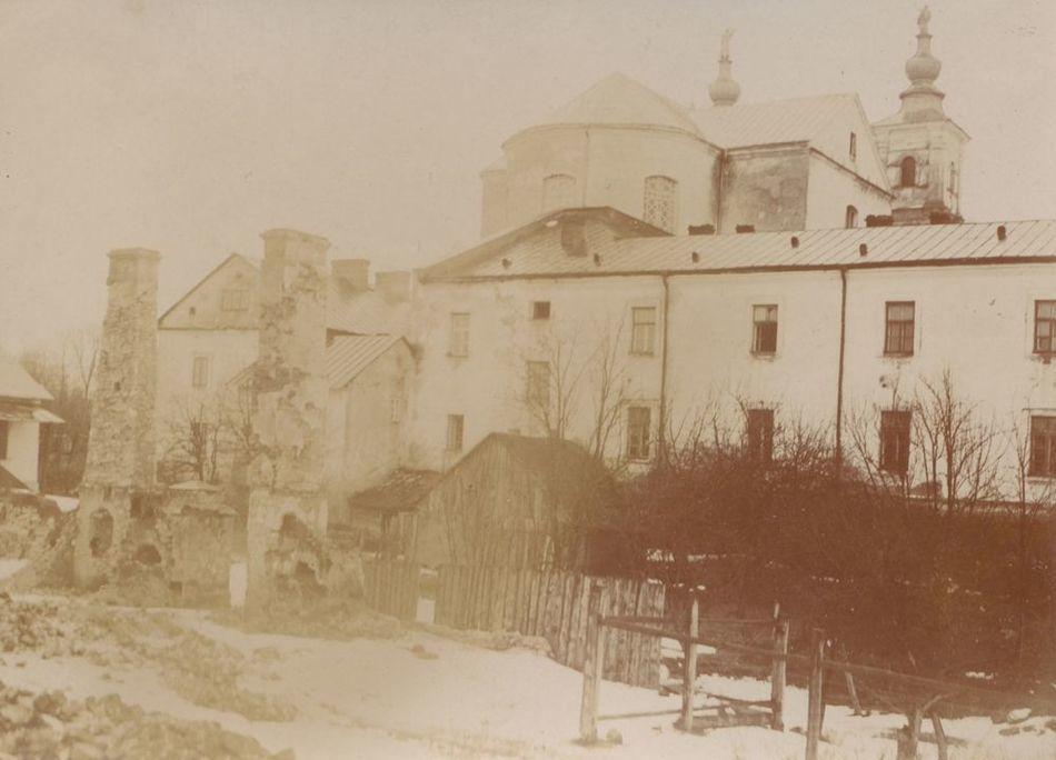 [MK/H/657/032] Widok kolegium pojezuickiego od strony zachodniej, Krasnystaw,1916 r.