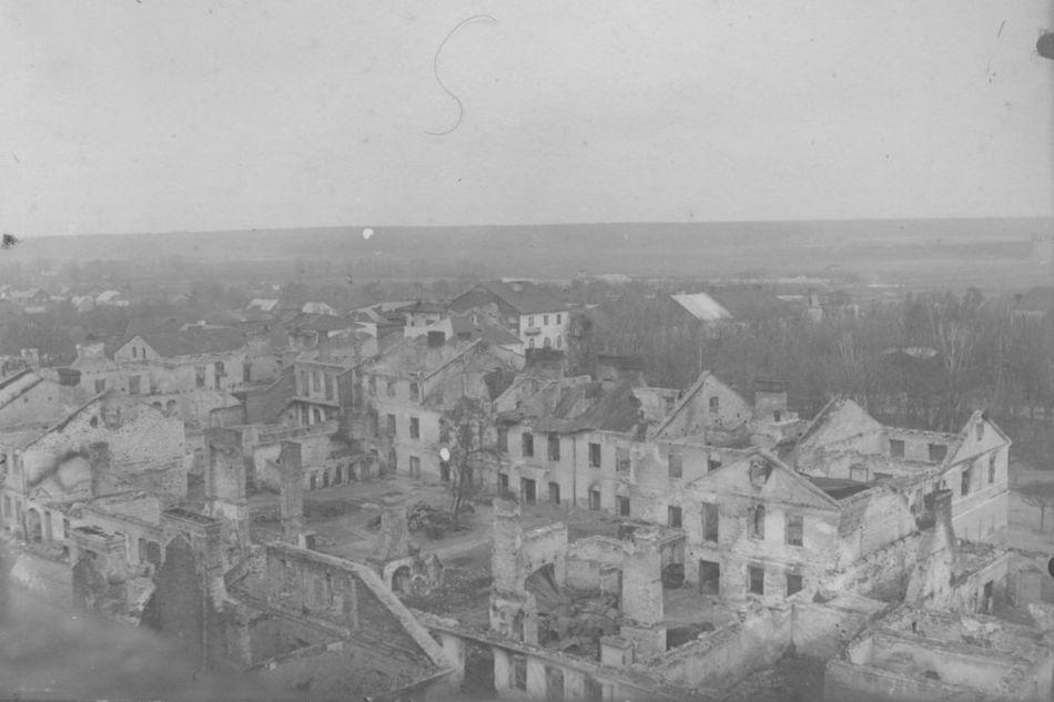 [MK/H/1695/019] Widok na dawną kanonię. Krasnystaw, lata 1914-1915.