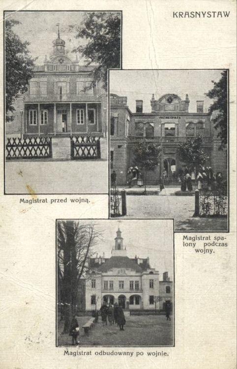 [MK/H/631] Kartka pocztowa - Magistrat Krasnystaw. ok. 1939 r.