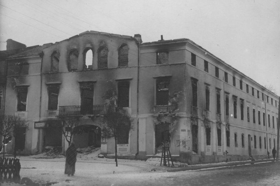 [MK/H/1695/017] Zniszczony Sejmik w Krasnymstawie. 1915 r.