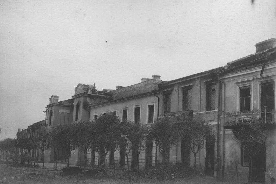[MK/H/1695/016] Kamienice-pierzeja południowa rynku. Krasnystaw, lata 1914-1915.