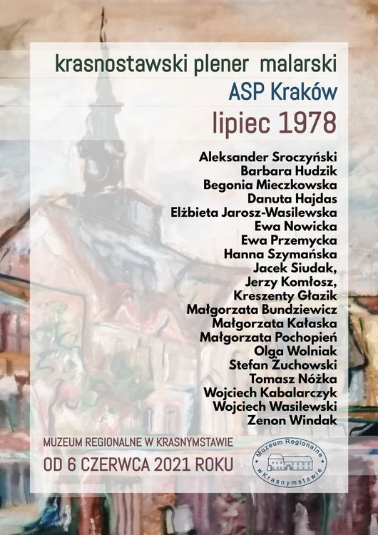 Krasnostawski plener malarski ASP Kraków. Lipiec 1978 rok