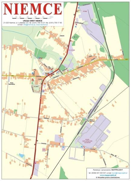 Mapa miejscowości Niemce