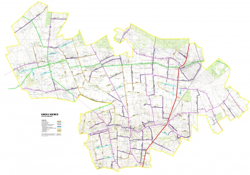 Mapa dróg gm. Niemce