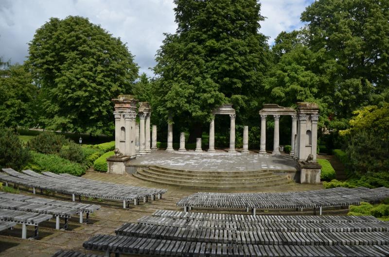 Amfiteatr przy pałacu  - Krasienin
