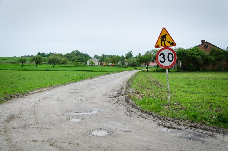 Droga gminna nr 106028L w miejscowości Krasienin Kolonia