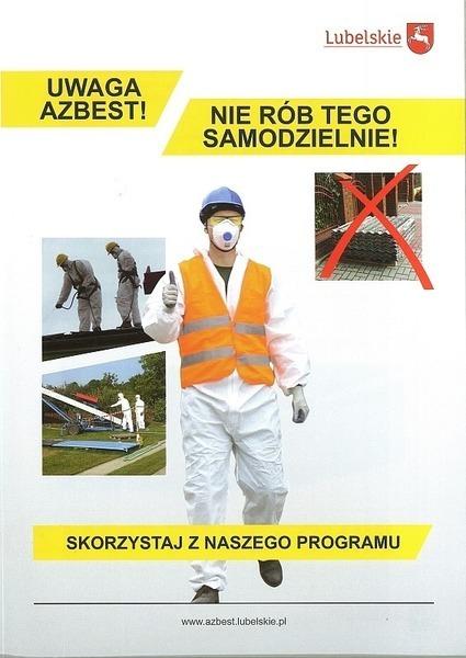Ulotka informacyjna usuwamy azbest