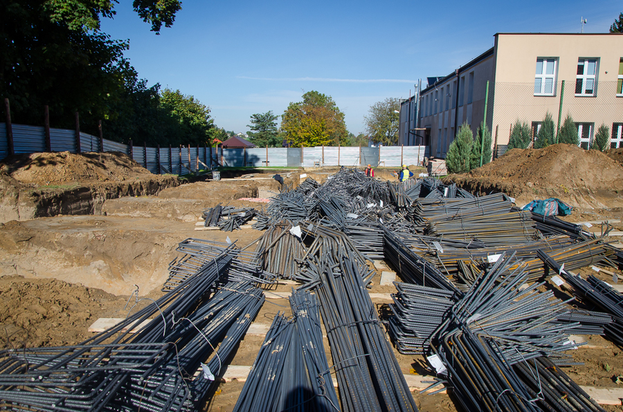 Budowa sali sportowej w Jakubowicach Konińskich