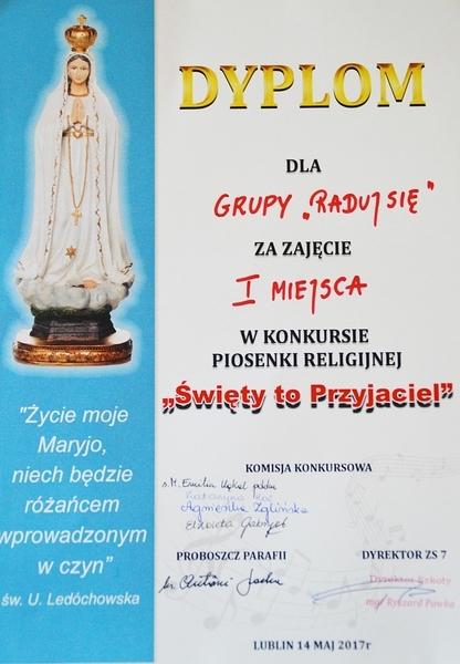 Konkurs piosenki religijnej pt. Święty to przyjaciel...